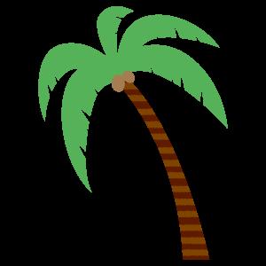 ヤシの木8 花植物イラスト Flode Illustration フロデイラスト