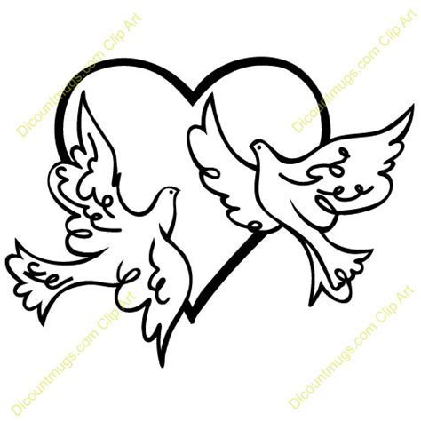 name two doves in a heart   Clipart Panda   Free Clipart