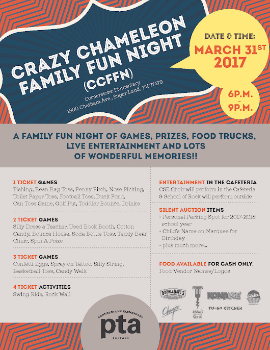 Crazy Chameleon Family Fun Night at Cornerstone Elementary | Emergency Room Open 24 Hours: SignatureCare Emergency Center
