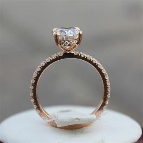 2.00 Carat Diamond & Hidden Halo Engagement Ring   Raven