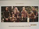 YOU SHALL BE THE FELLOWSHIP OF THE RING... LOTR Master Works Lithograph Art Print