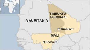 Map of key areas in Mali affected by the civil war. The regional ECOWAS grouping is trying to mediate the conflict between the MNLA and Bamako. by Pan-African News Wire File Photos