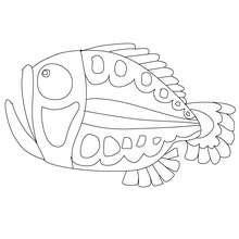 Dibujos Para Colorear Pescado De Abril Boca Abierta Eshellokidscom
