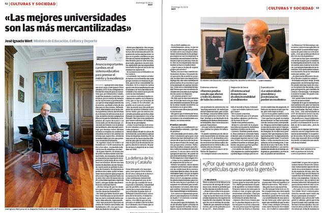 Entrevista al ministro Wert