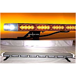 "47"" LED Amber Lens Lightbar Flashing Warning Tow/Plow Truck w/ Brake lights and LED Driver"