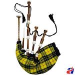 Scottish Highland Bagpipe Macleod of Lewis Tartan Imitation Ivory Mounts Natural Finish - Macleod of Lewis Natural