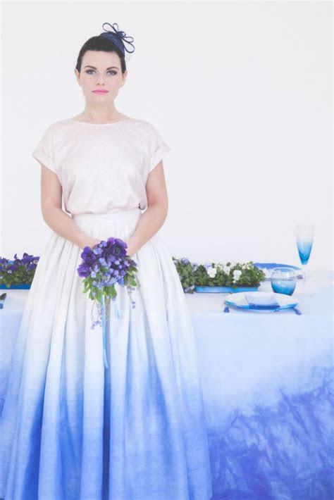diy tutorial dip dye  wedding rock  roll bride