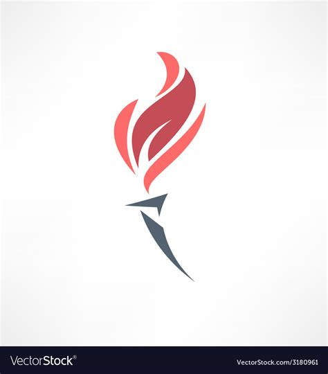 torch icon logo design royalty  vector image