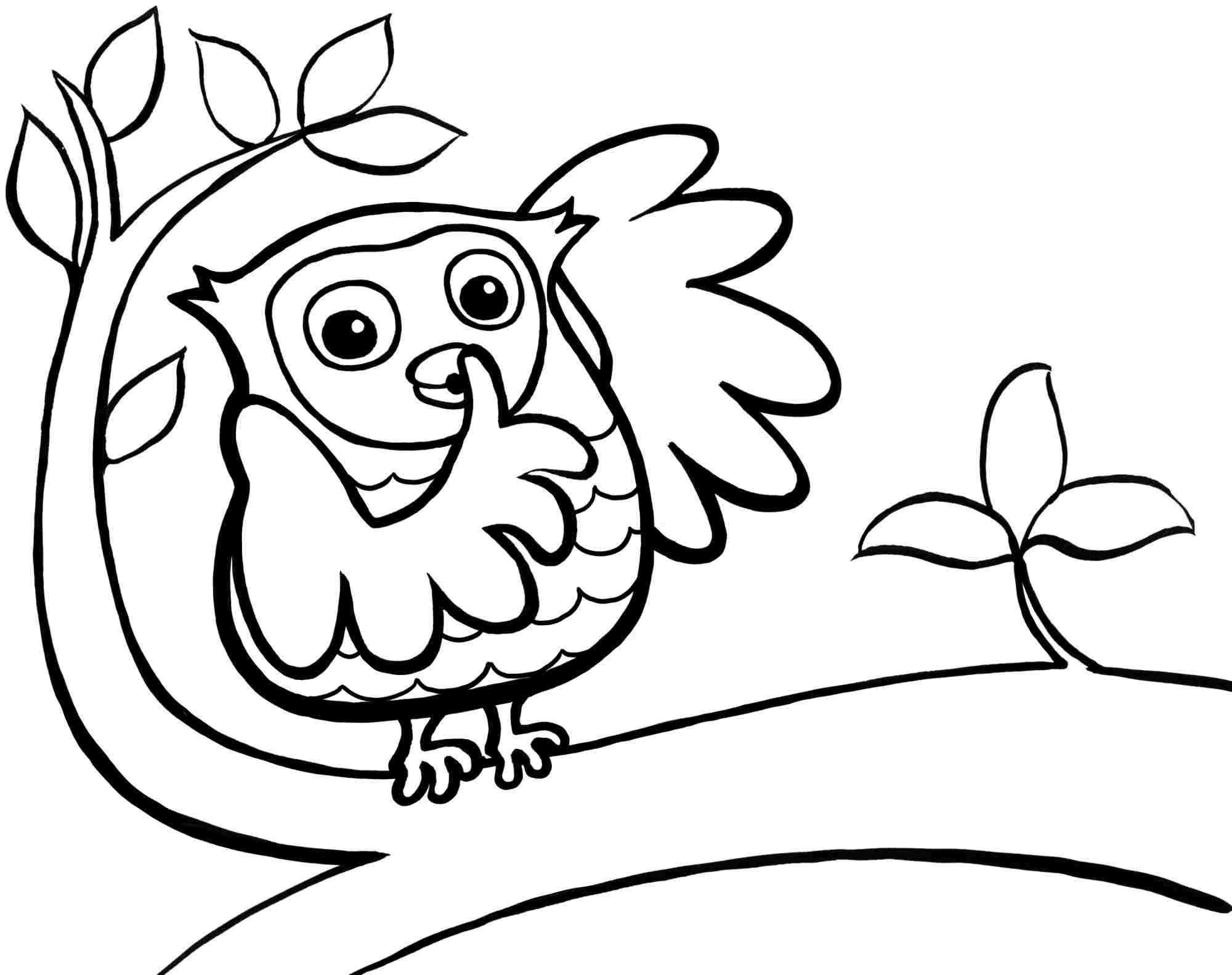 99 Cute Owl Coloring Pages Printable Pictures