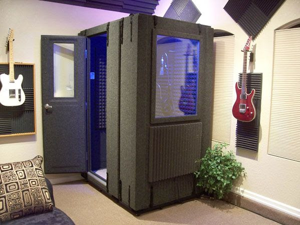 Music Room With Soundproof Practice Recording Booth