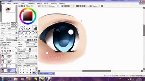 paint tool sai tutorial   draw anime girl eye