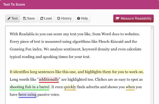 Measure Text Readability - Readability and Keyword Density Analysis and Tools - Unique readability tools to improve your writing! Readable.io