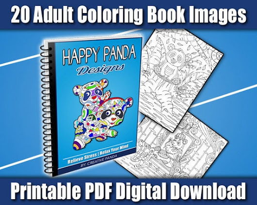 Happy Panda Designs  20 Printable Adult by CreativePandaBooks