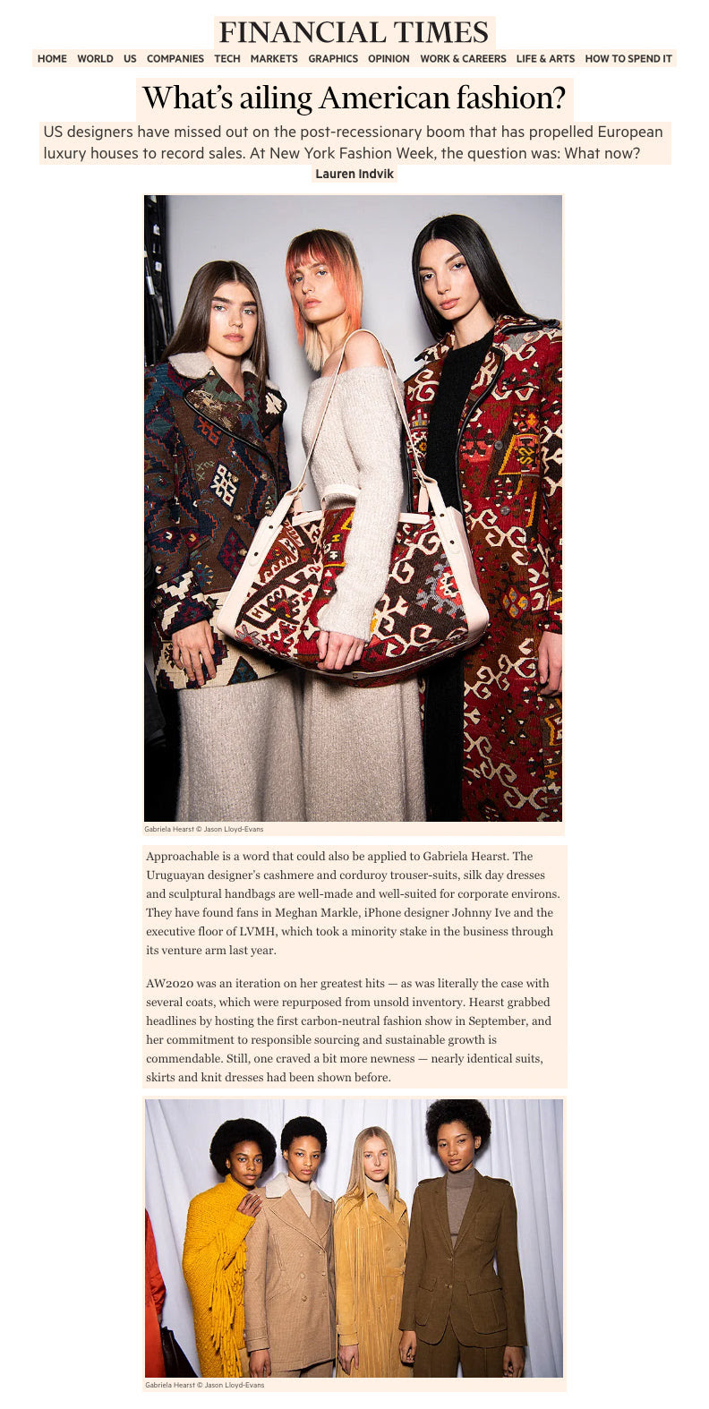 What S Ailing American Fashion Gabriela Hearst