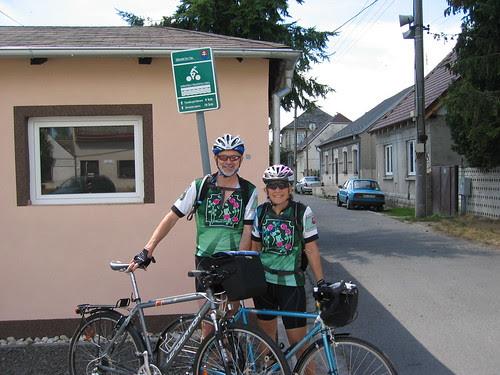 Zahorska Ves, start of the bike path along the Morava River