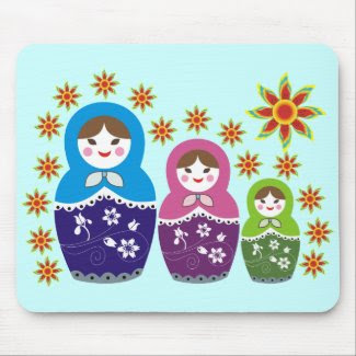 Russian Matryoshka Doll Mousepads. mousepad