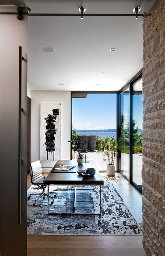 37 Cool Home Offices With Stunning Views DigsDigs
