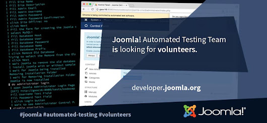Joomla! Automated Testing Team - Call for volunteers!