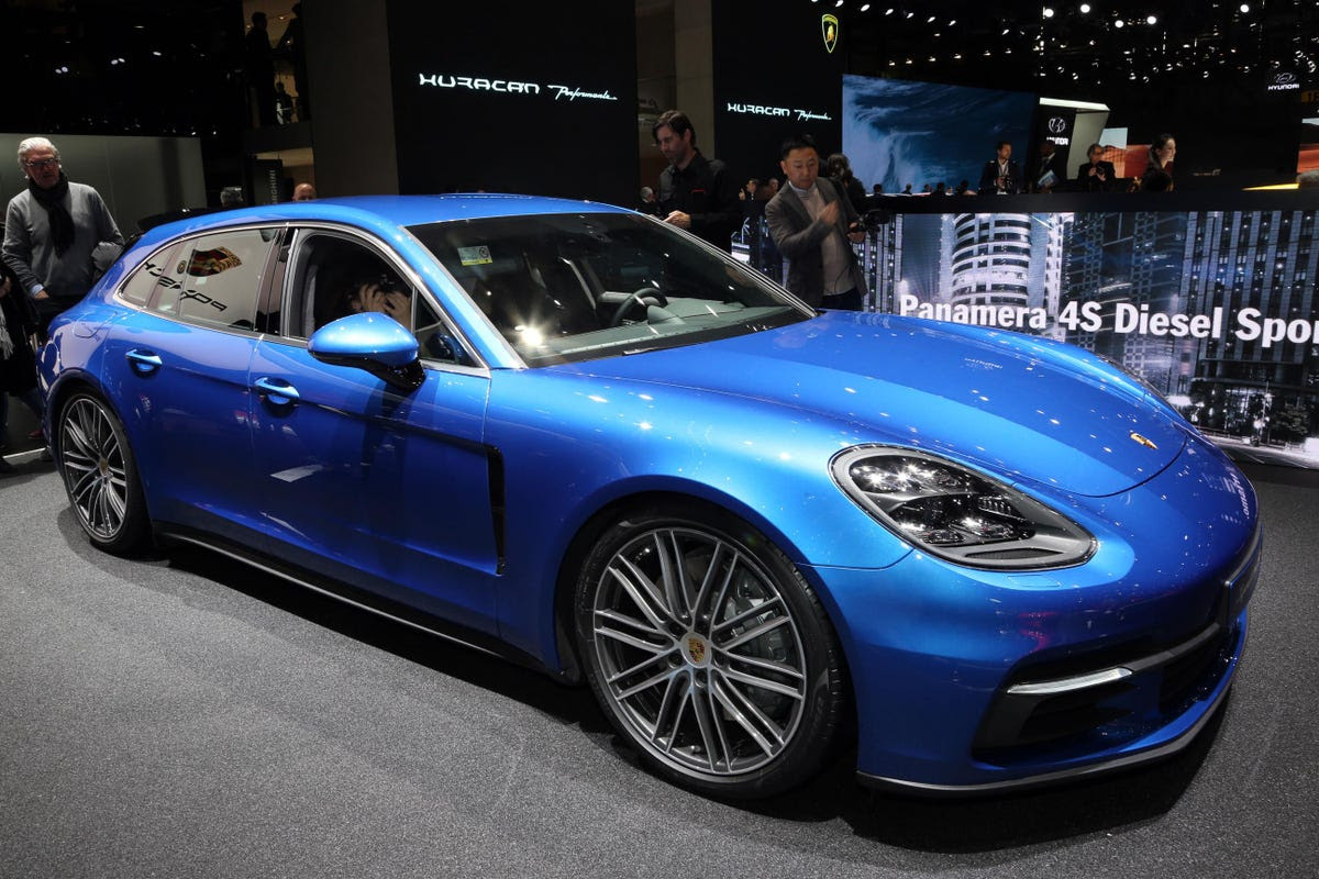 Porsche's Panamera Sport Turismo wagon made its first public appearance as well as ...