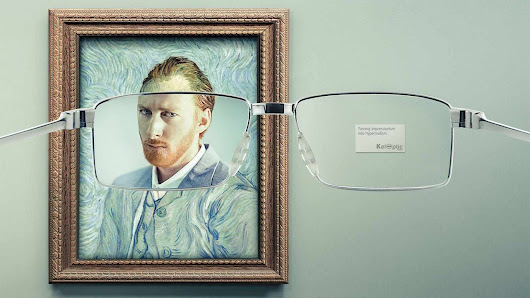 Impressionist Classics Finally Come Into Focus in Clever Eyewear Ads