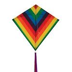 """Rainbow Stripe 30"""" Diamond Kite by In The Breeze 3176"""
