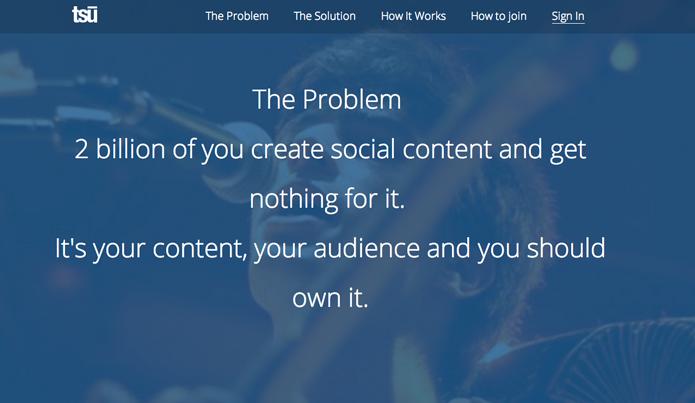 Tsu rede social que paga pelo conteúdo do usuário (Foto: Reprodução/André Sugai)