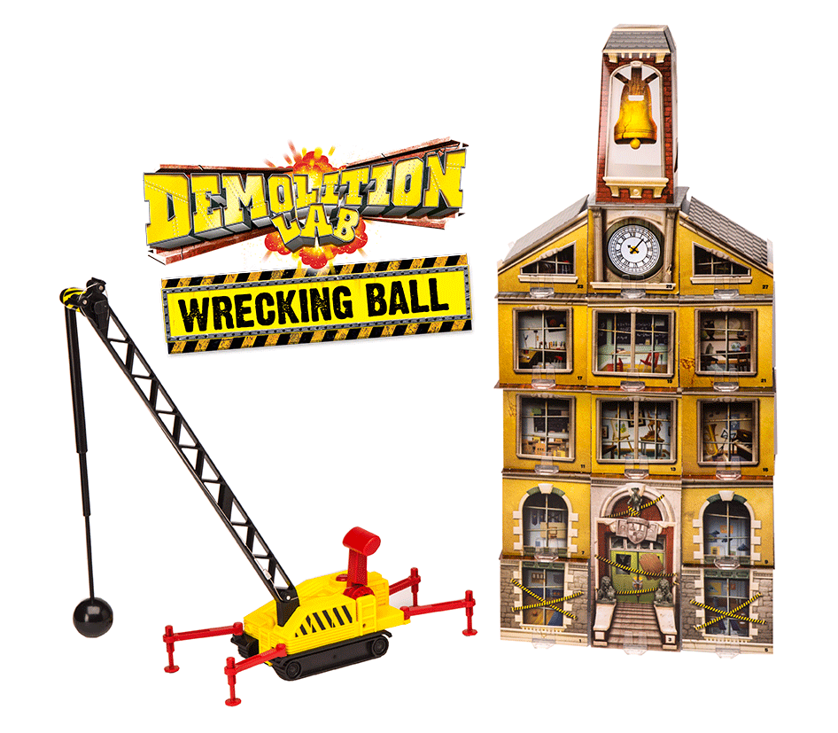 Amazon.com: SmartLab Demolition Lab: Wrecking Ball Building Kit ...
