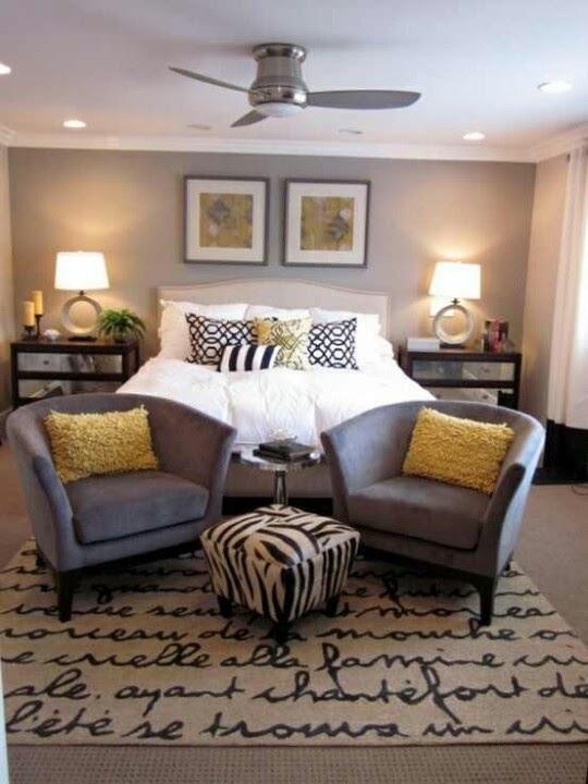 Black, white, gray & yellow! | Master Bedroom | Pinterest