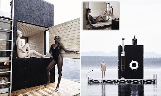 The motorised sauna that floats across a lake