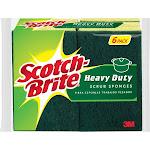 Scotch-Brite Heavy Duty Scrub Sponge Value Pack - 6 count
