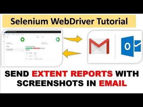 How to send extent reports in email with screenshots
