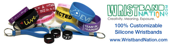 100% custom wristbands