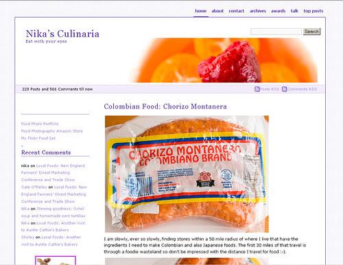 screen shot of blog 3-4-07