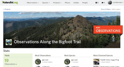 iNaturalist Project - Bigfoot Trail Alliance