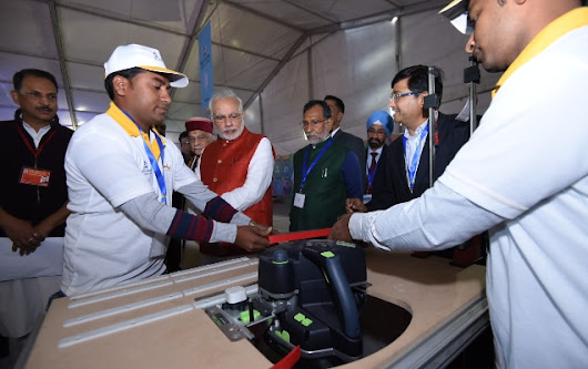 PM Modi lays foundation of first ever Indian Institute of Skills in India at Kanpur
