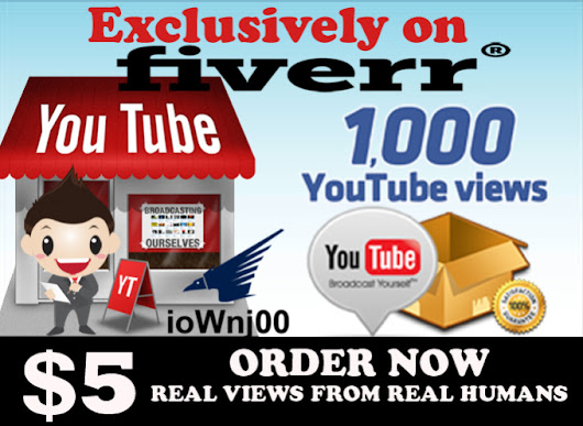 1000 Real High Retention Youtube views - fiverr