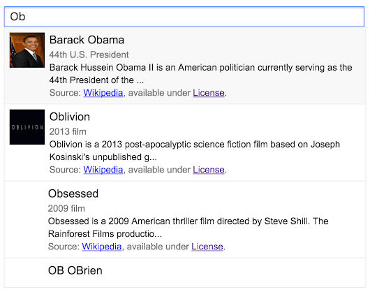 Knowledge Graph Search Widget</title>