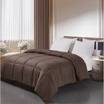 Blue Ridge Home Fashions Polyester Down Alternative Comforter, Chocolate, Twin