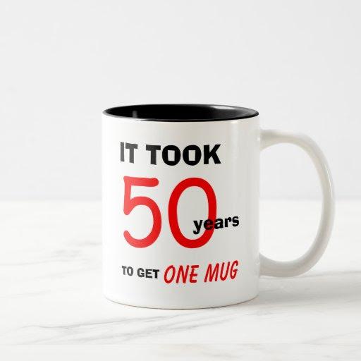 50th Birthday Gift Ideas for Men Mug - Funny