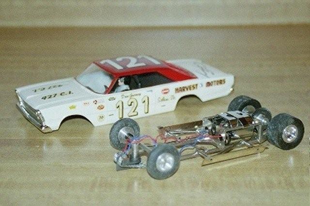 Electric slot car racetrack vintage impossible