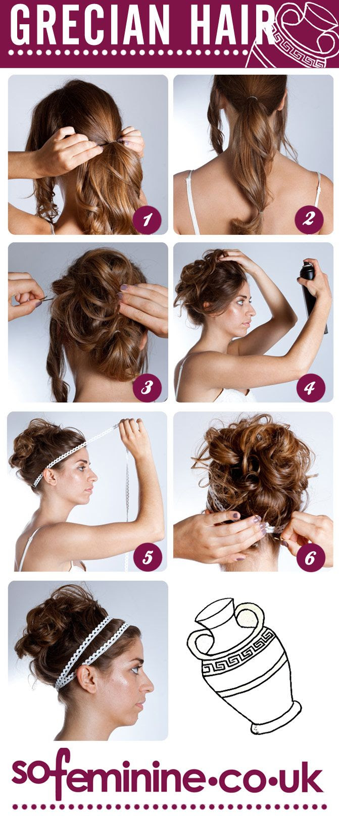 How to do a Grecian hairstyle need to adapt it for long hair.