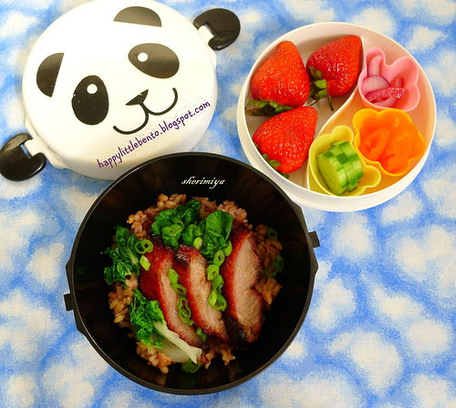 Char Siu Fried Rice Panda Donburi Bento Bowl by sherimiya ♥