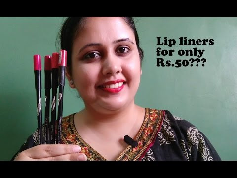 7 Heaven's Photogenic Lip Liners Review & Swatches| Only Rs.50???- Video