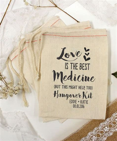 Best 25  Hangover kit wedding ideas on Pinterest   Wedding