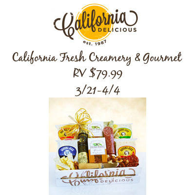 California Creamery & Gourmet Giveaway. Ends 4/4
