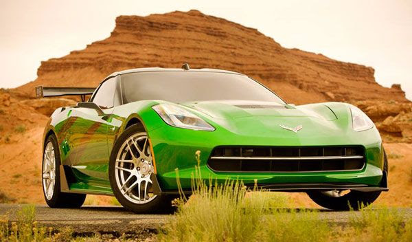 A C7 Corvette Stingray that will be featured in TRANSFORMERS 4.