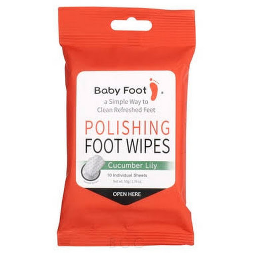 Baby Foot Polishing Foot Wipes 10 Applications