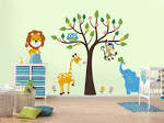 Wild Life Kids Room Wall Sticker Decoration Ideas | liftupthyneighbor.
