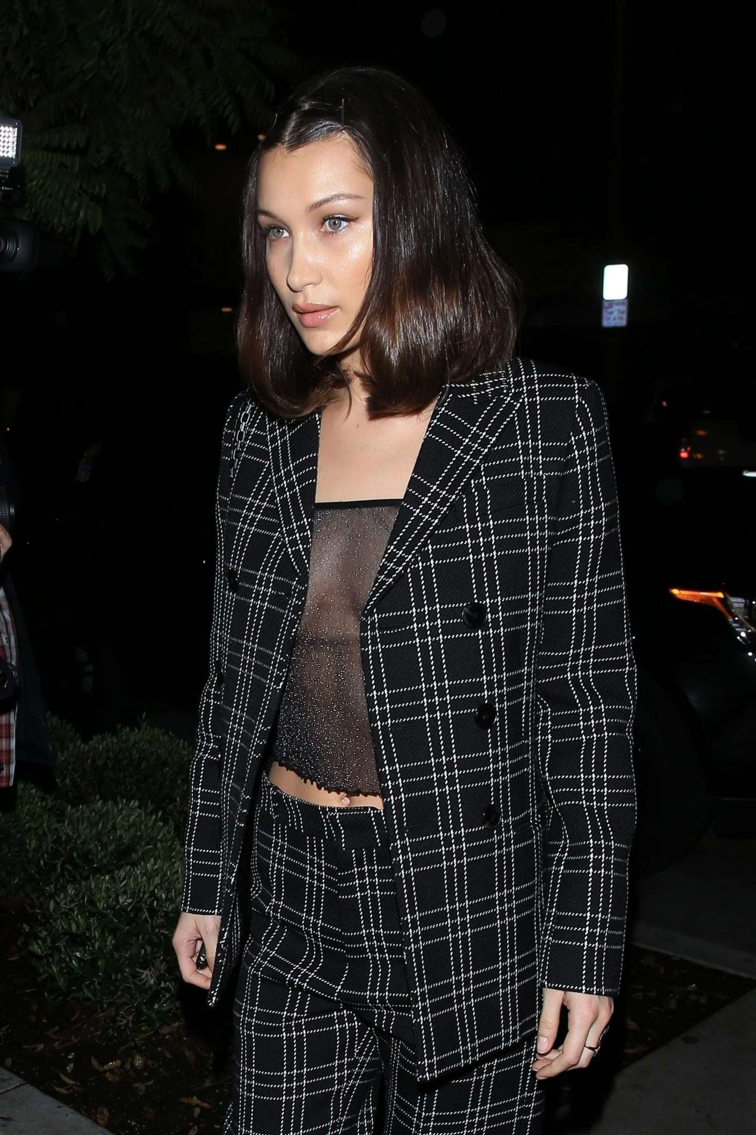 Bella Hadid – Arriving at 'Gracias Madre' Restaurant in West Hollywood