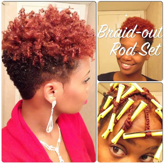Braid-Out Rod Set On Short Natural Hair [Video] - Black Hair Information Community